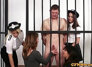 Cfnm judge hotties take charge uncover detainee