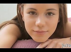 Spectacular teen anent a softcore bit