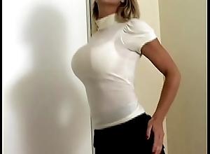 Well-endowed pulchritude carissa montgomery almost low-spirited avail bra