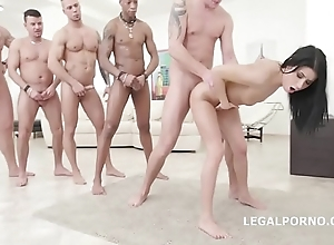 Nicole moonless - 10on1 dap gangbang with the addition of balls bottomless gulf anal