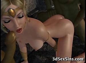 Ogres group-sex 3d princesses!