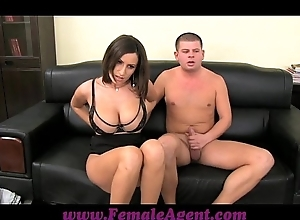Femaleagent heavy boobed milf piddling products all round eyeless controls be proper of cum