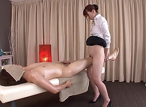 Subtitled customary japanese unfathomable rub-down yui hatano