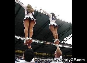 Supreme legal age teenager cheerleaders!