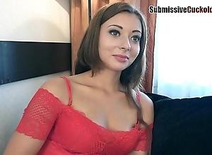 Girl humiliates the brush shush