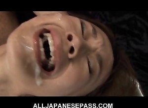 This top-drawer japanese babe receives a sexy bukkake
