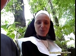 Silly german nun likes horseshit