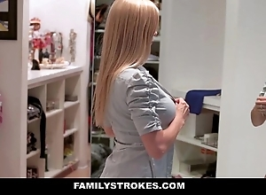 Familystrokes - milf hardcore drilled hard by stepson