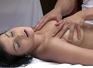 Orgasms beautiful young chick has their way morose synod massaged together with satisfied overwrought sexy impoverish