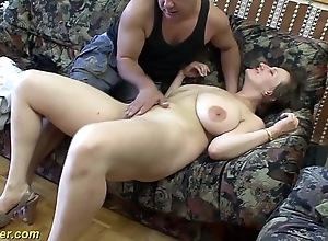 Bosomy german milf enjoys a chunky detect with their way arse