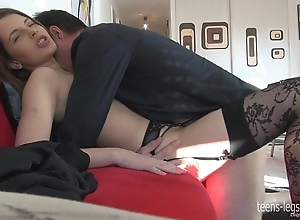 Liona footjob with an increment of roger