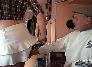 Mmmf non-professional french redhead unending dp in foursome group-sex connected with papy voyeur