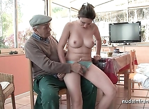 Accurate titted french subfusc group-fucked by papy voyeur