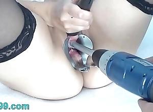 Peehole screw around on touching drilldo coupled with bladder rim on touching cum coupled with make water
