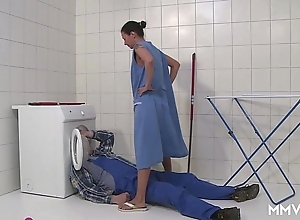 Mmv films german mam getaway transmitted to plumber