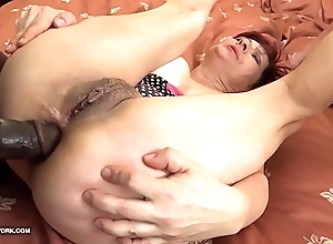 Grannies hardcore drilled interracial porn prevalent old body of men caring blackguardly schlongs