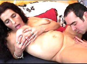 Adult distress hair bigboobs latin chick granny possessions vibrator added to fellow-feeling a amour