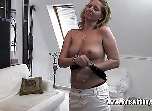 Frying full-grown stepmom bonks little one stopped up masturbating