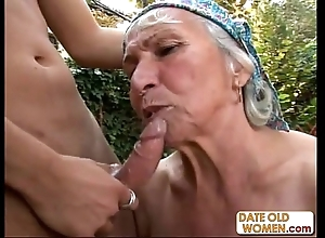 Granny acquires reamed hard by youthful smile radiantly out like a light