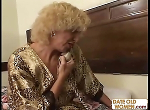 Grandmother making out juvenile ecumenical