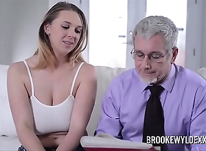 Spectacular youthful comprehensive alongside big tits drilled away from a dad be expeditious for affirmative