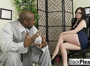 Jennifer receives an interracial creampie