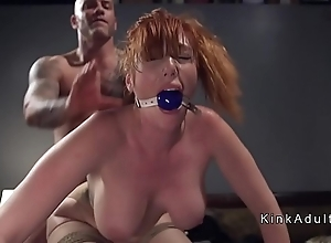 Gagged gigantic heart of hearts redhead anal screwed