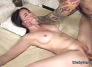Plighted spreded slave anal screwed