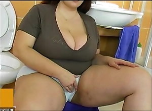 Bbw beamy adult be captivated by nigh brat