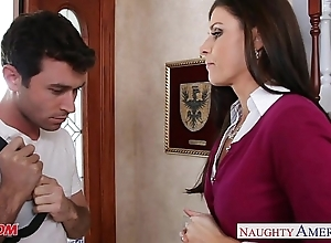 Pithy titted female parent india summer shacking up